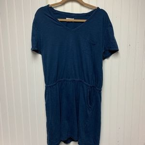 Lou & Grey  Blue T-Shirt Dress W/ Pockets